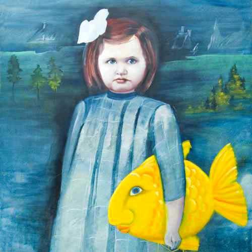 rheinblick-malerei-schroeder-oel-kind mit fisch